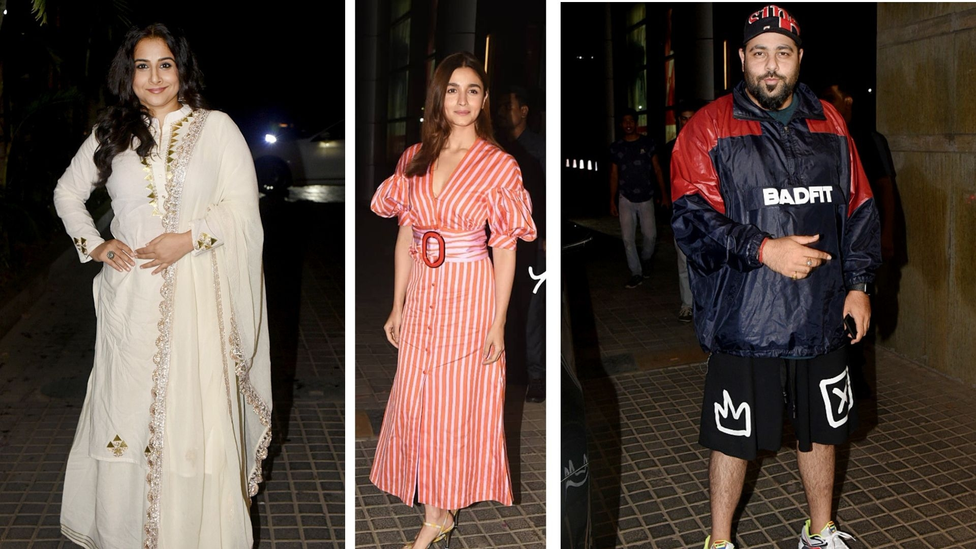 Pics: Vidya Balan, Alia Bhatt Attend India's Most Wanted Screening