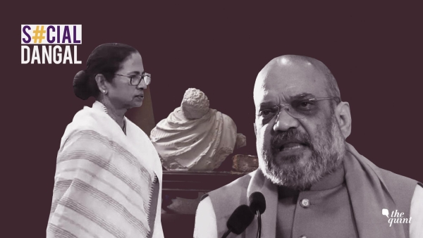 BJP workers are said to have smashed the statue of Bengal icon Ishwarchandra Vidyasagar.