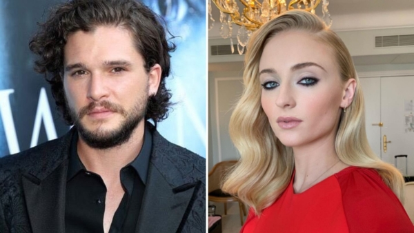 Kit Harington and Sophie Turner on the <i>Game of Thrones </i>finale.