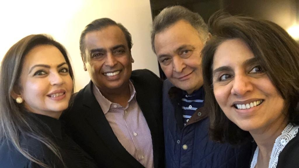 Rishi Kapoor Thanks Mukesh & Nita Ambani for Visiting Him In NY