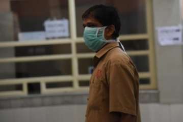 Kochi: A hospital staff seen wearing mask as a precautionary measure against the Nipah virus (NIV) at Ernakulam General Hospital, in Kochi, on June 5, 2019. (Photo: IANS)