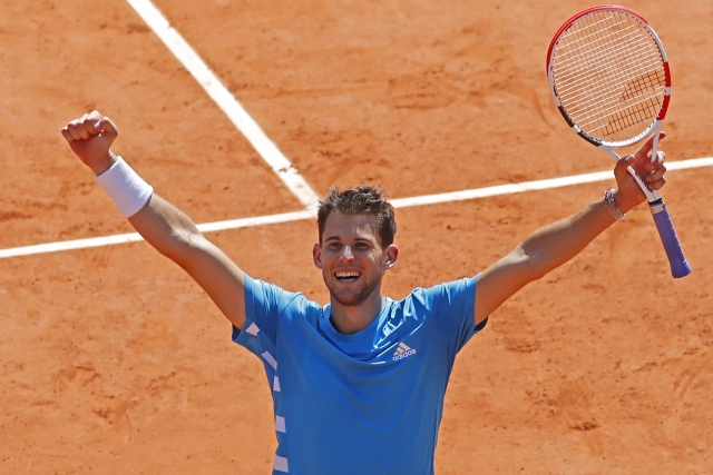 Thiem, an Austrian ranked No. 4, now gets a chance to win his first Grand Slam trophy on the red clay of Roland Garros.