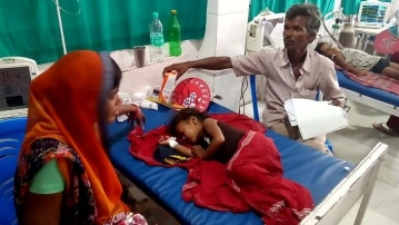 As many as 62 children have died in Bihar's Muzzafarpur district.