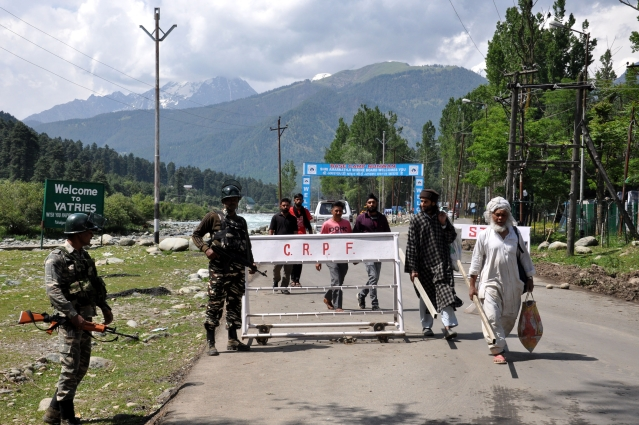 Security arrangements for the Amarnath Yatra.
