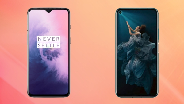 OnePlus 7 (left) against the Honor 20 Pro (right)