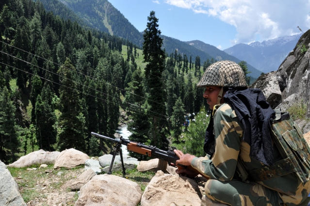 Heavy Security  in Anantnag to Pahalgam ahead of Amarnath Yatra.