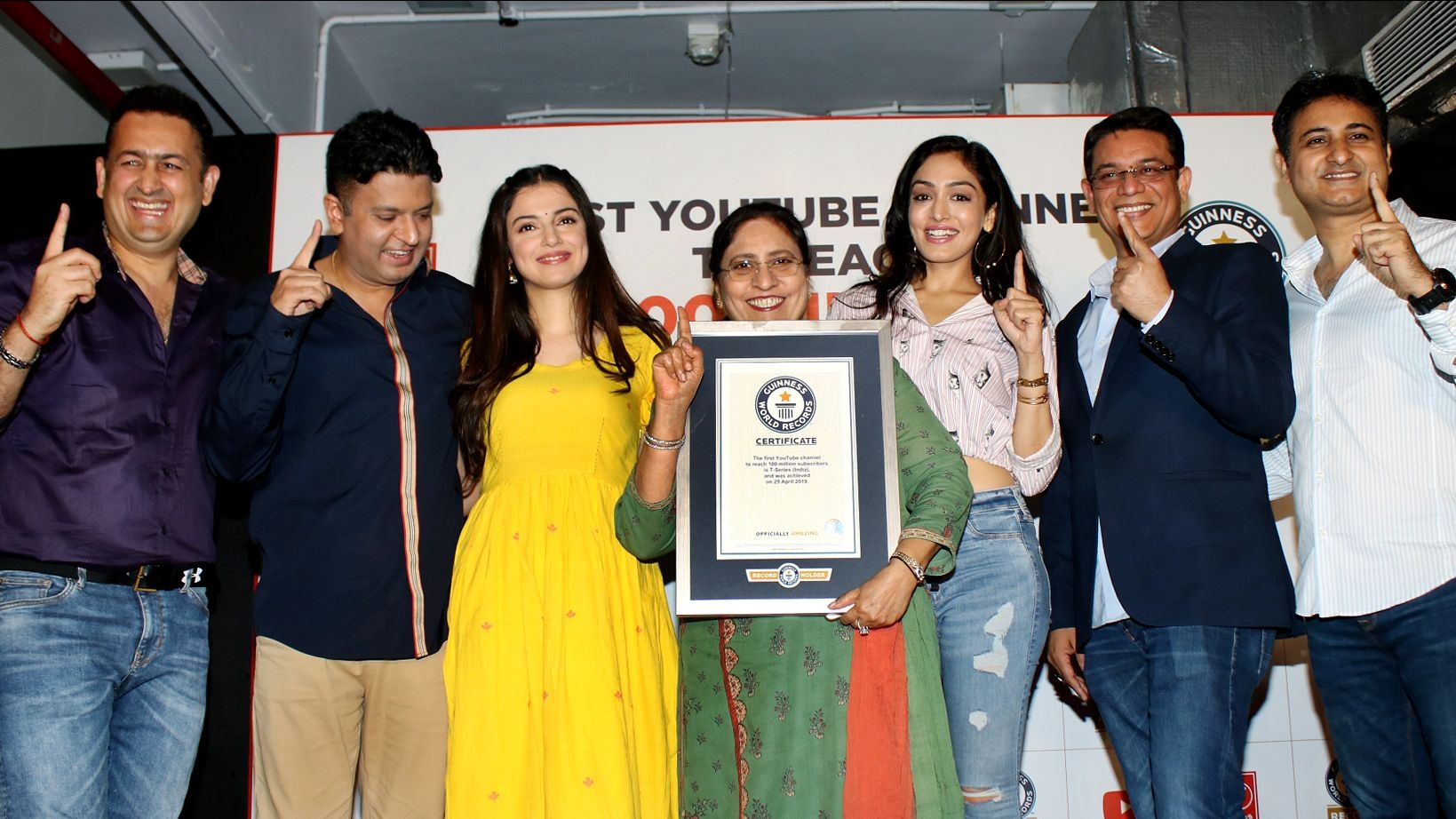 T-Series Receives Guiness Record for Reaching 100 Mn Subscribers
