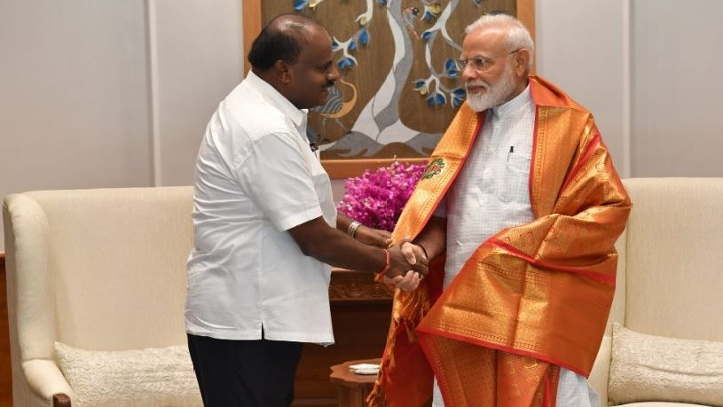 K'taka CM Calls on PM Modi, Congratulates Him on Being Re-Elected