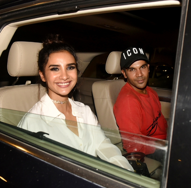 Rajkummar Rao, whose film <i>Mental Hya Kya</i> is about to hit the theatres, arrives with Patralekhaa.
