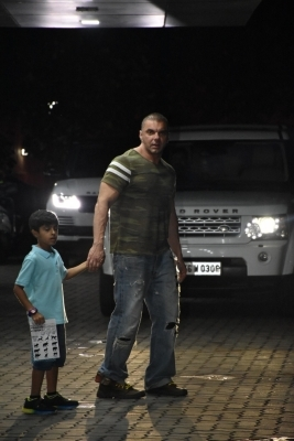 Salman Khan pulls off a stunt to wish nephew