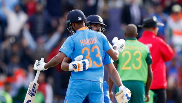 India beat South Africa by 6 wickets in their 2019 ICC World Cup opener.