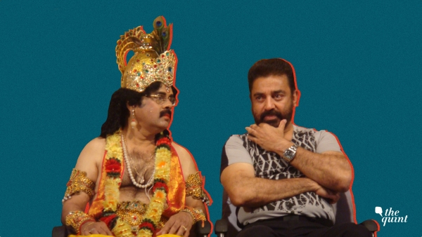 Crazy Mohan as 'Chocolate Krishna' with his close friend Kamal Haasan.