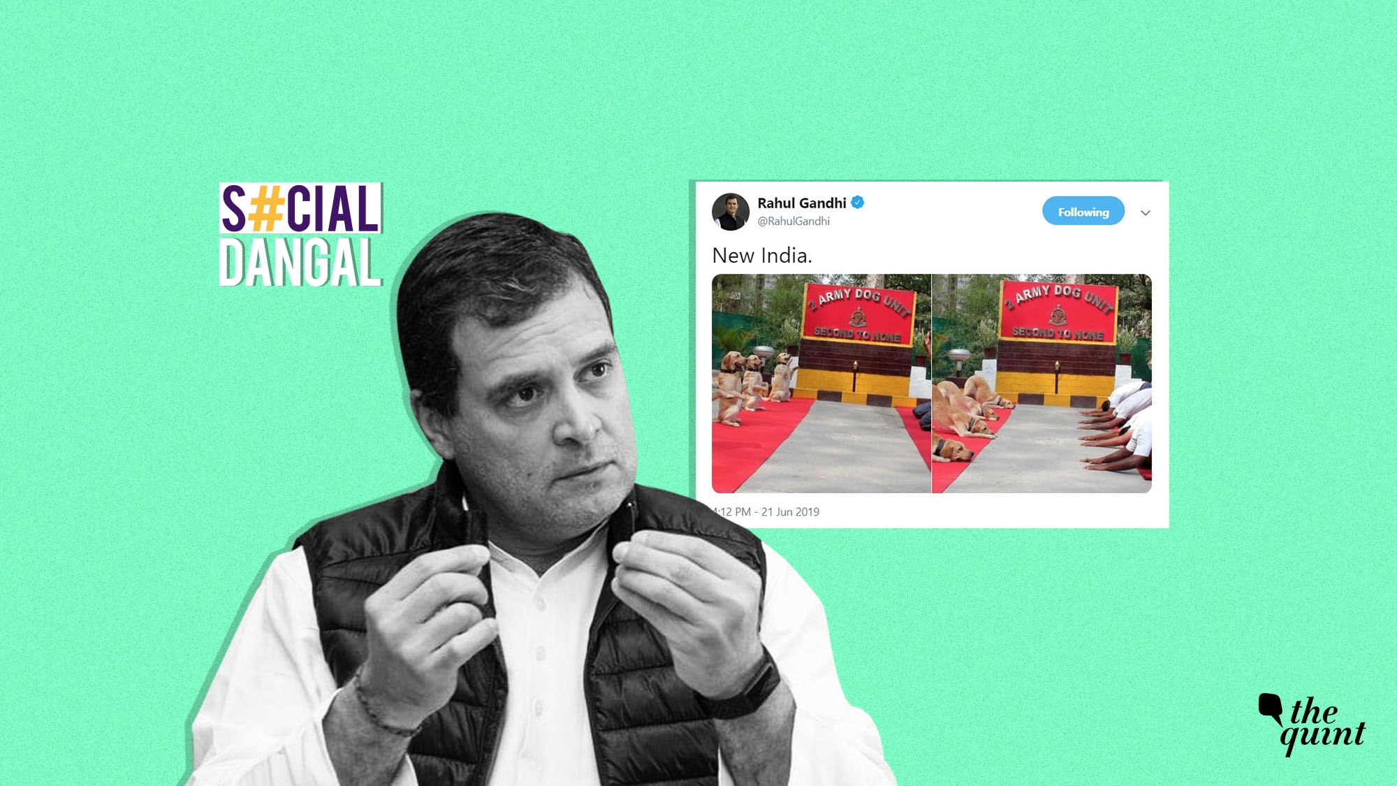 Rahul's Cryptic 'New India' Yoga Day Post Draws Tweeple's Ire