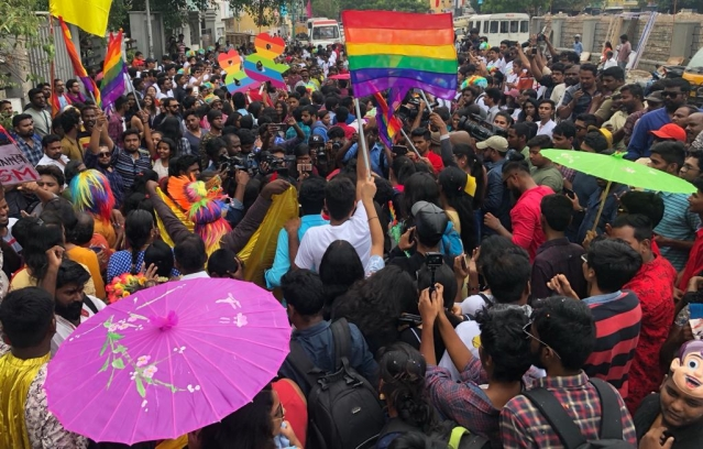 Hundreds flock to the Chennai Pride march.
