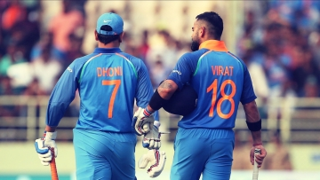 MS Dhoni and Virat Kohli.