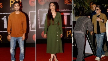 Bollywood actors at the special screening of <i>Article 15.</i>