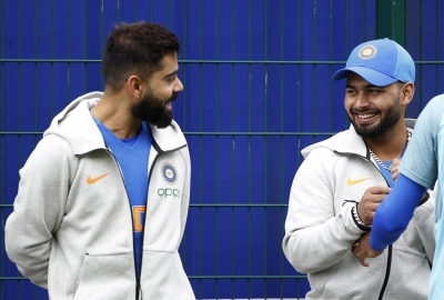 Rishabh Pant joins India team in Manchester