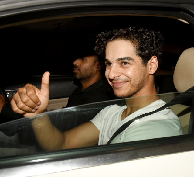 Ishaan Khatter poses for the shutterbugs.