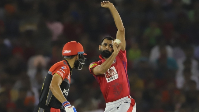 Shami finished IPL 2019 with 19 wickets at an average of 24.68.