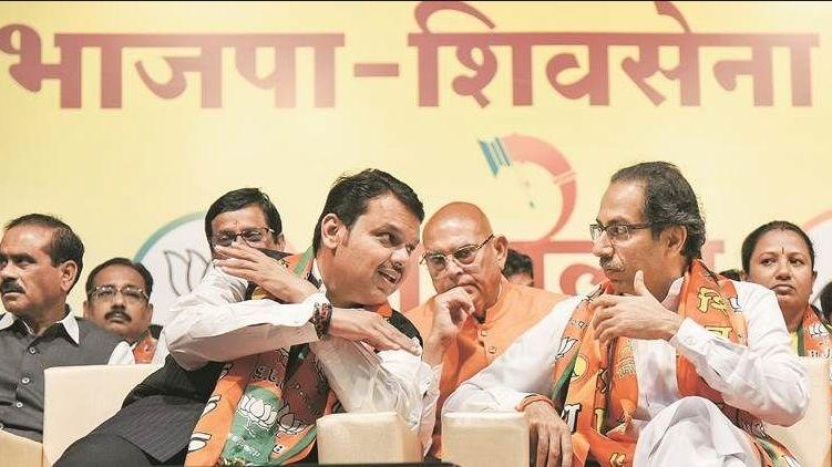 Ahead of Maha Polls, Fadnavis Attends Sena's Foundation Day Event