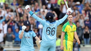 England reached its first Cricket World Cup final in 27 years by trouncing defending champion Australia.
