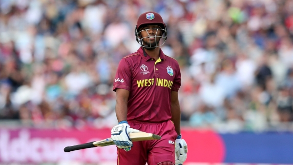 West Indies' Nicholas Pooran leaves the field after being dismissed during the Cricket World Cup match between West Indies and Sri Lanka in Riverside Ground,Chester-le-Street.