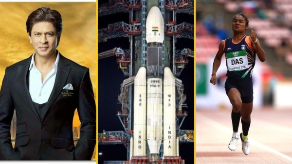 Shah Rukh speaks on Chandrayaan 2 launch; Hima Das.