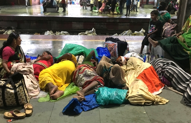 The Central Railways has declared all platforms of Mumbai railway stations as a 'no sleeping zone'.