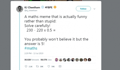 Try 'BODMAS' method to solve this viral math equation