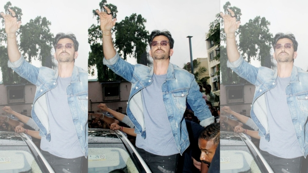 Hrithik Roshan outside a Mumbai cinema hall.