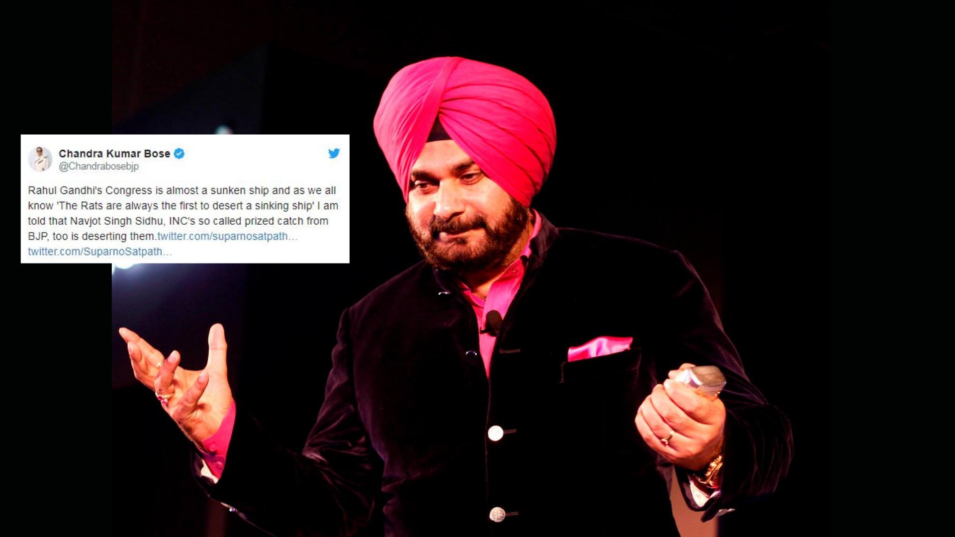 'Rats Always Desert Sinking Ship First': Twitter As Sidhu Quits