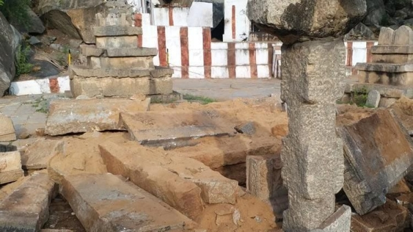 The site is the resting place of the nine saints of the Madhva community, a Brahmin sub-caste.