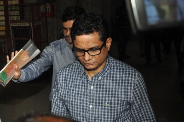 Kolkata: Former Kolkata Police commissioner Rajeev Kumar comes out from the Central Bureau of Investigation (CBI) office after interrogation in the Saradha chit fund scam case, in Kolkata on June 7, 2019. (Photo: Kuntal Chakrabarty/IANS)