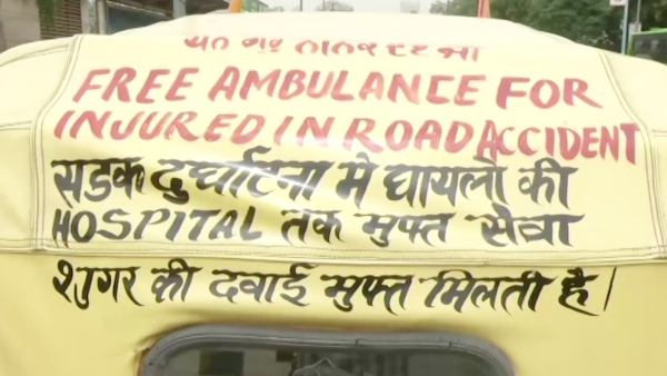 A 76-year-old ex-traffic warden works extra hours to save money for his 'free of cost' auto ambulance, which has been helping people and saving lives for almost 40 years in Delhi.