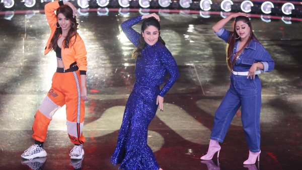 Judge Kareena Kapoor dances with the tutors of Dance India Dance.