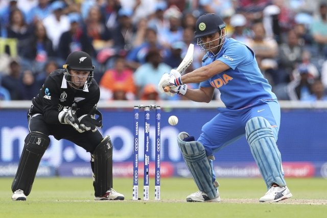 MS Dhoni during match against New Zealand.