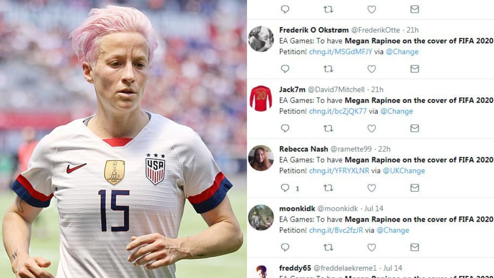 Megan Rapinoe on FIFA 2020 Cover? Petition Tries to Make It Happen