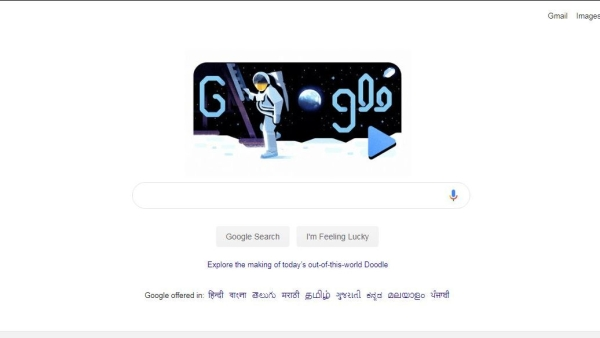 Google Doodle celebrates 50 years since first moon landing.
