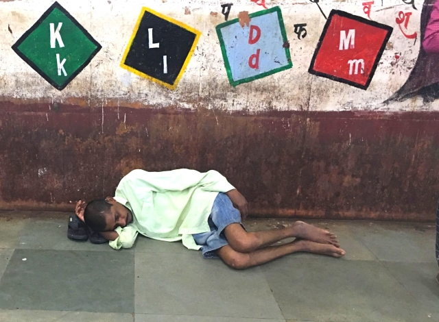 A sick man sleeps near the ticket counter of Kurla station for days. Where will he go if the police kicks him out?