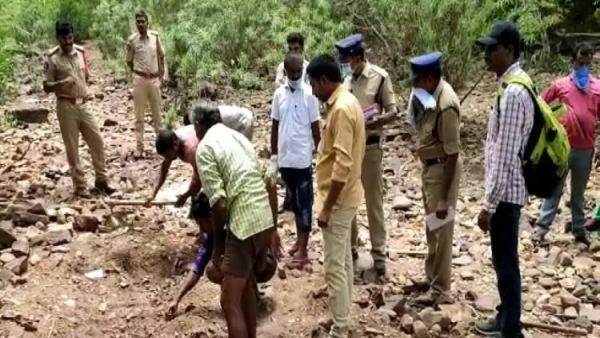 An unidentified body exhumed near Narasimha Temple in Nallamala forest, Kurnool on Saturday, 13 July, is suspected to be a case of human sacrifice.