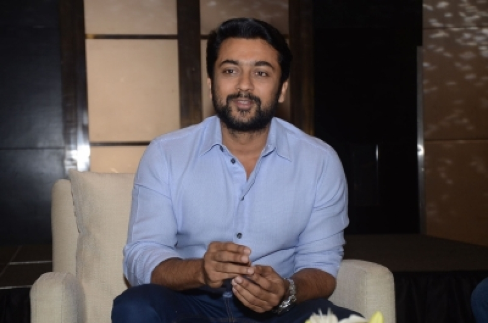 Suriya launches poster of wife Jyothika's next