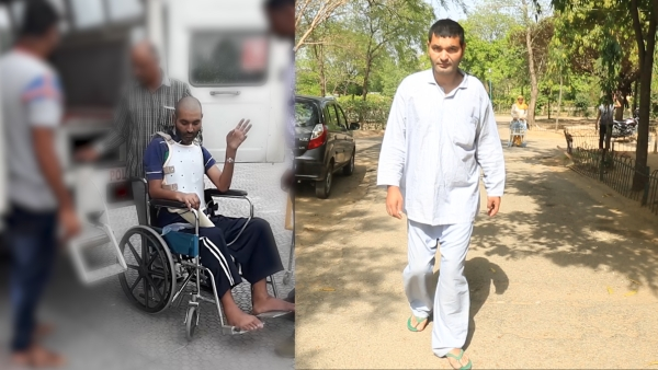 Khursheed Ahmad recovered from a spinal injury.