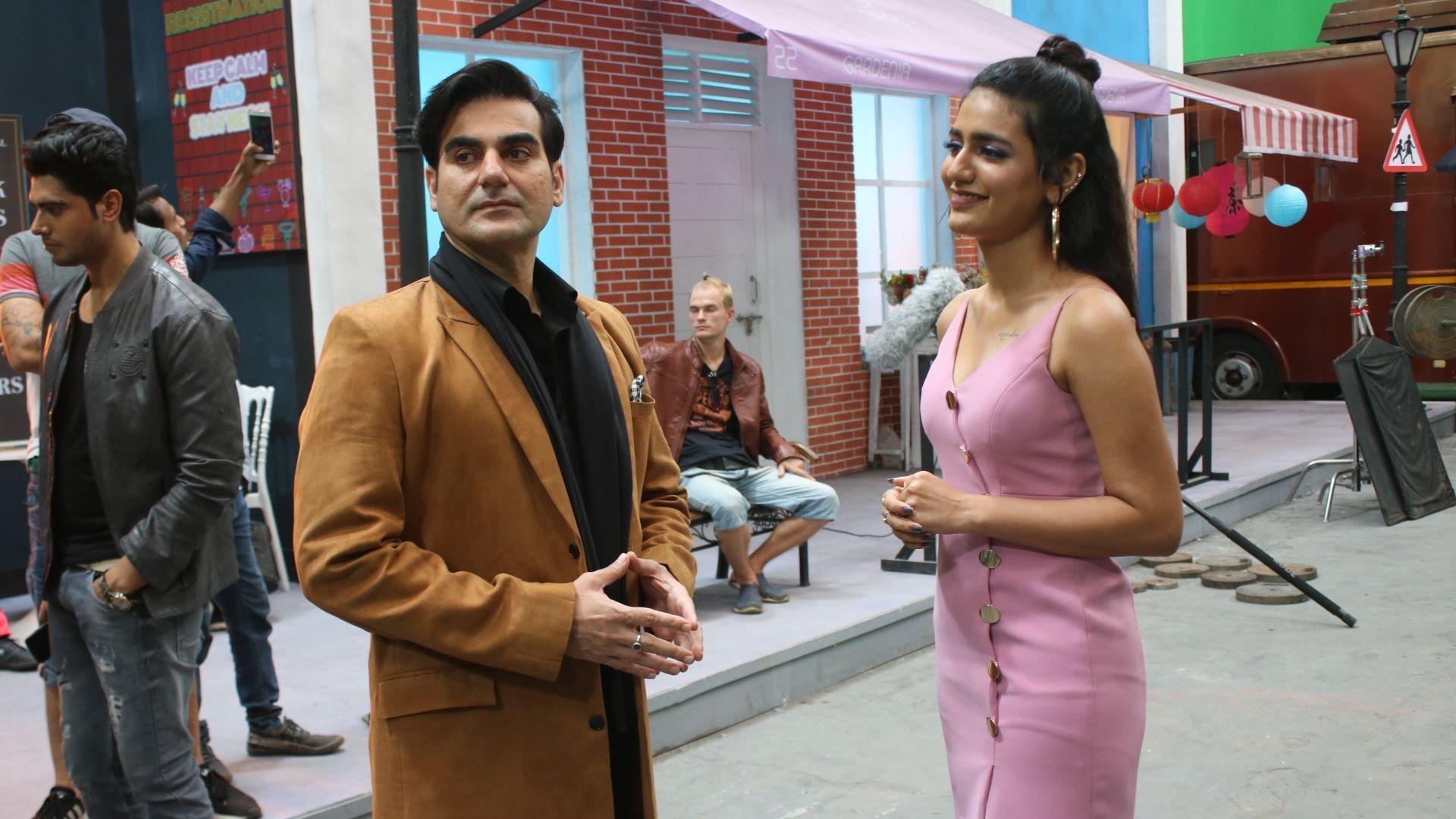 Priya Prakash Varrier and Arbaaz Khan Shoot for 'Sridevi Bungalow'