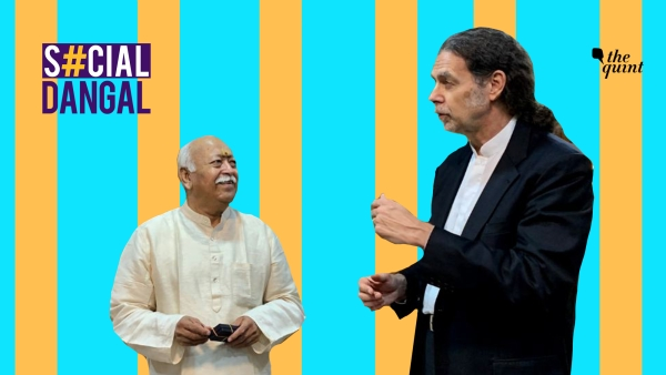 German Ambassador to India Walter J Lindner with RSS chief Mohan Bhagawat.