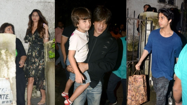 Suhana, Shah Rukh Khan with Abram and Aryan.