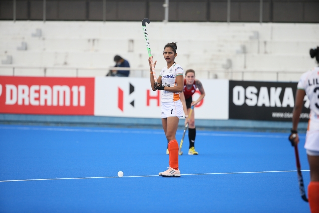 Forward Navjot kept her nerves under pressure and produced a fine finish in front of the goal.