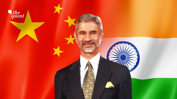 Image of EAM S Jaishankar and India-China flags used for representational purposes.
