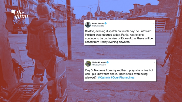 As restrictions continue on communication, movement and internet, some are taking to Twitter to show  normalcy return to Kashmir, even though partially.