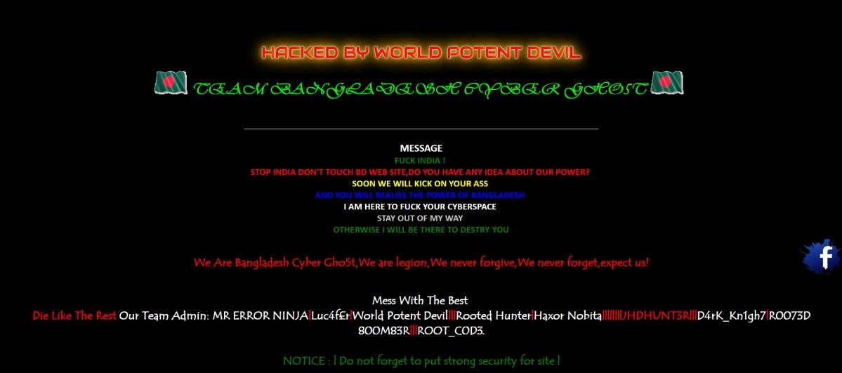Notorious Bangladesh Hacker Group Abuses India by Defacing