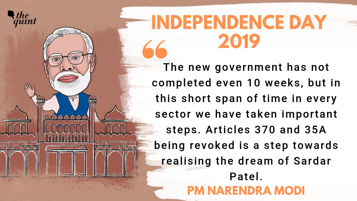 Highlights of PM Narendra Modi's Speech on Independence Day